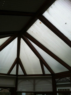 Old Poly carbonate roof