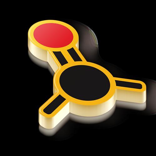 Carbonyl Badge Pin - Metallic Hard Enamel