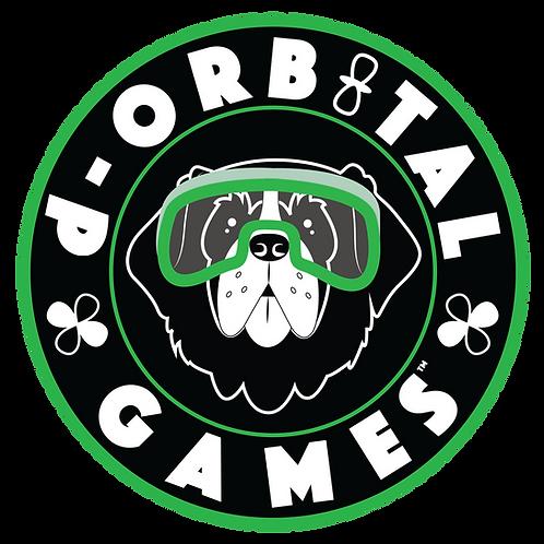 "3"" x 3"" Science Dog Sticker - Saint Bernard"