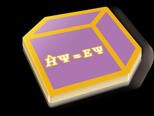 Particle in a Box Badge Pin - Metallic Hard Enamel