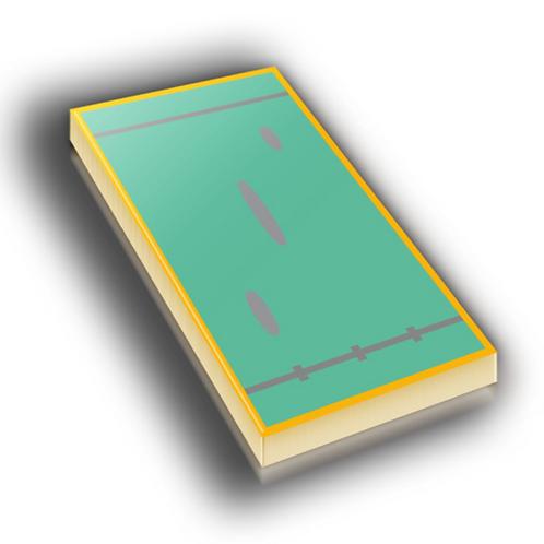 TLC Badge Pin - Metallic Hard Enamel