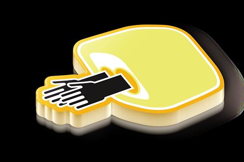 Glovebox Badge Pin - Metallic Hard Enamel