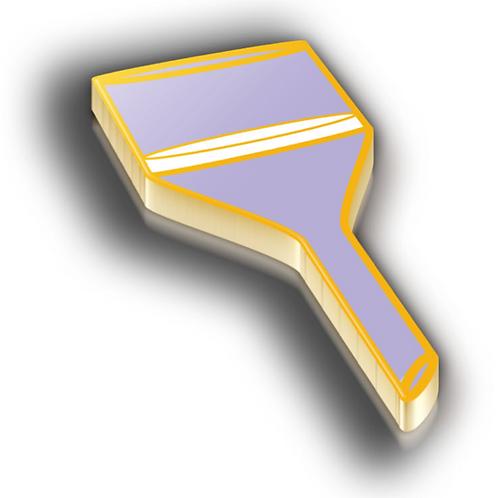 Filter Badge Pin - Metallic Hard Enamel