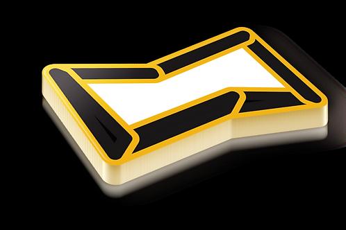 Chair Conformation Badge Pin - Metallic Hard Enamel