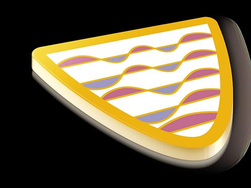 Harmonic Oscillator Badge Pin - Metallic Hard Enamel