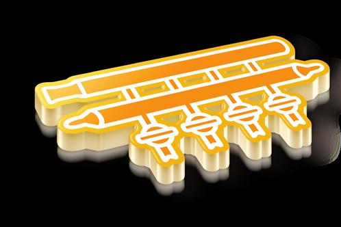 Schlenk Line Badge Pin - Metallic Hard Enamel