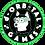 "Thumbnail: 3"" x 3"" Science Dog Sticker - Husky"
