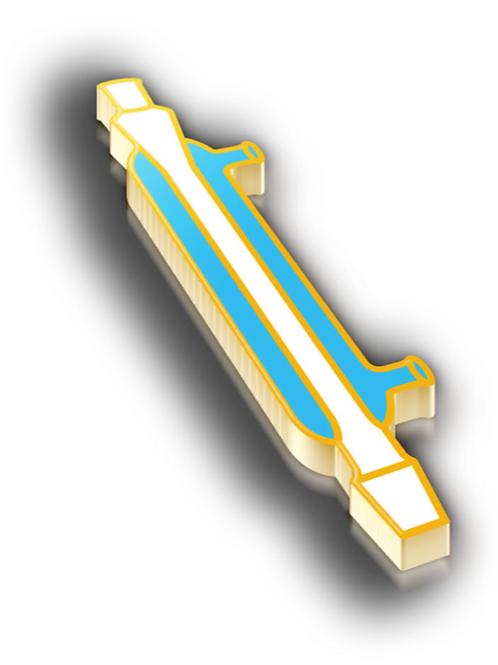 Condenser Badge Pin - Metallic Hard Enamel
