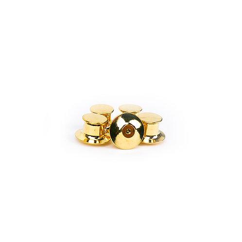 GOLD LOCKING PIN BACKS FOR ENAMEL PINS   PACK OF 5
