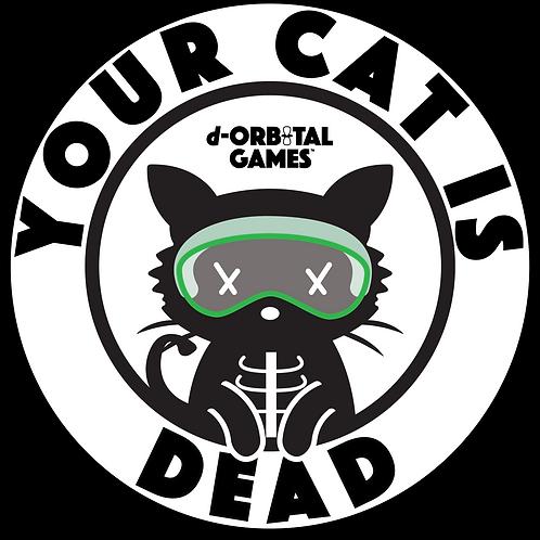"3"" x 3"" Dead Cat Sticker"
