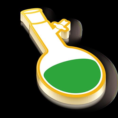 Schlenk Flask Badge Pin - Metallic Hard Enamel