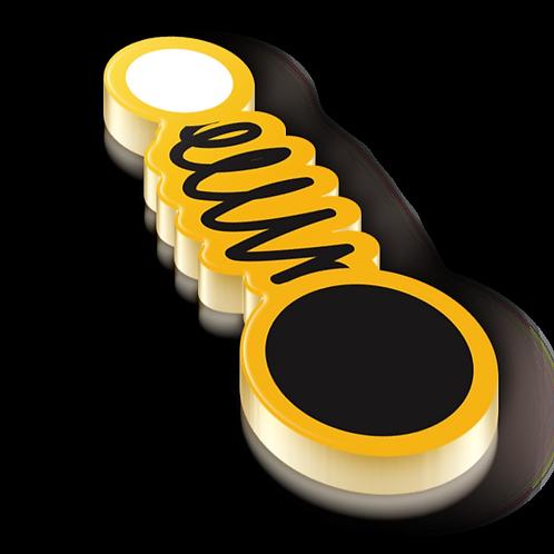 Vibrational Stretch Badge Pin - Metallic Hard Enamel