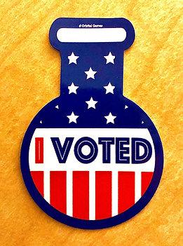 "10 ""I Voted"" Round Bottom Stickers"