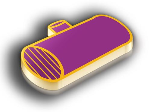Polarimetry Badge Pin - Metallic Soft Enamel