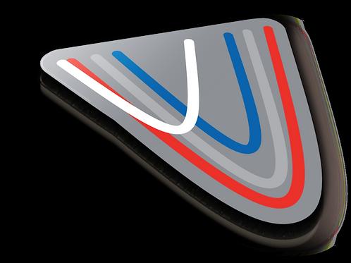 Electron Transfer Badge Pin - Metallic Soft Enamel