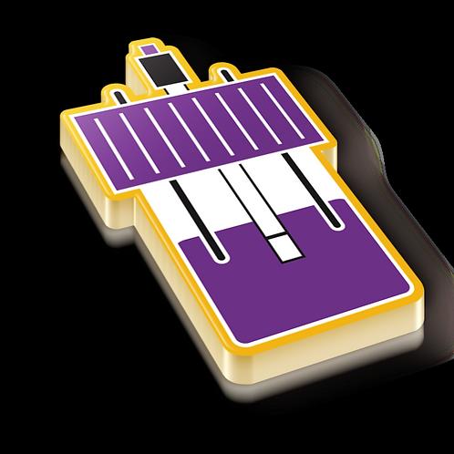 Electrochemistry Badge Pin - Metallic Hard Enamel