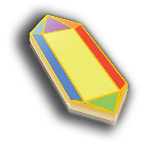 Recrystallization Badge Pin - Metallic Hard Enamel