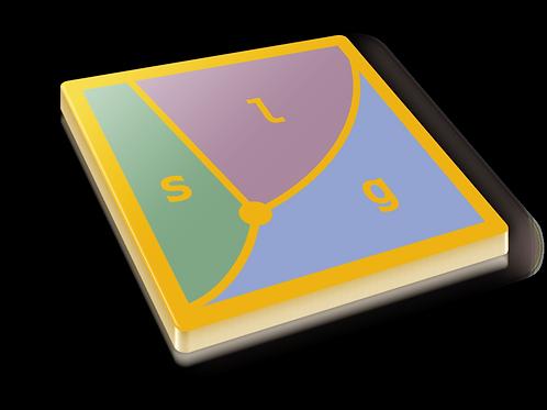 Phase Diagram Badge Pin - Metallic Hard Enamel