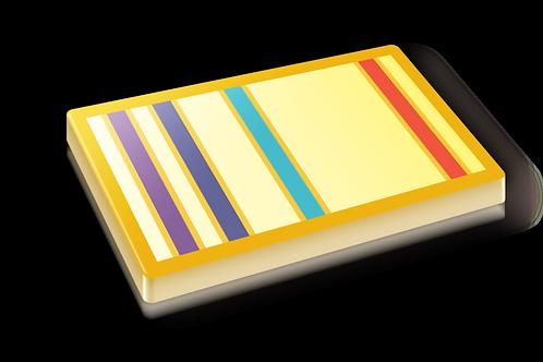 Atomic Emission Badge Pin - Metallic Hard Enamel