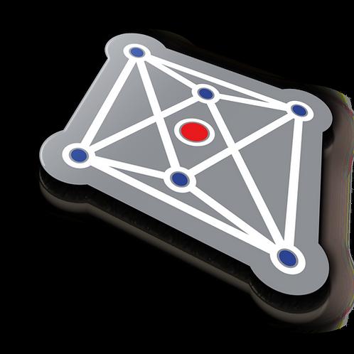 Crystal Field Badge Pin - Metallic Soft Enamel