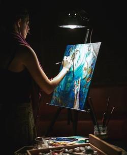Painting at Los Globos in East LA