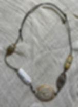 Five agate beads circa 3rd Century BCE f