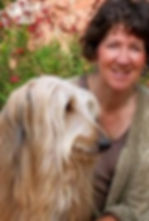 Author Kate McGahan with her dog Jack