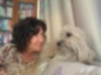 Kate McGahan and her dog Joey
