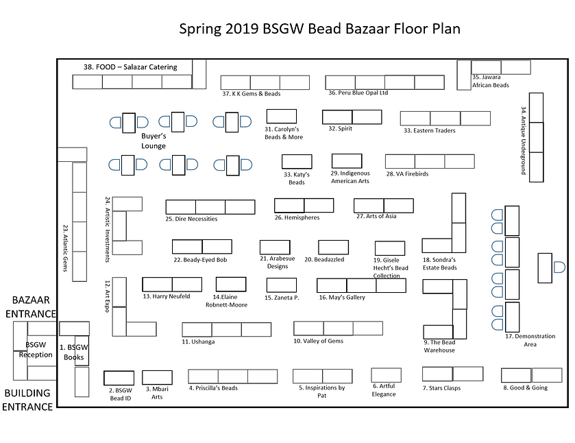 bead bazaar vendor plan - spring 2019 Fi