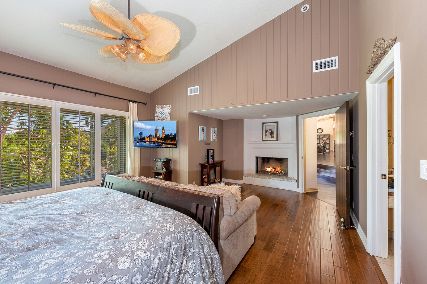 Cozy Fireplace in the Master Bedroom