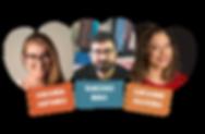Amanda Antunes, Tarcisio Bino e Catianne Oliveira palestrantes