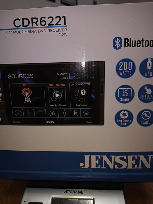 """CDR6221 JENSEN BLUETOOTH TOUCH SCREEN 6.2"""""""