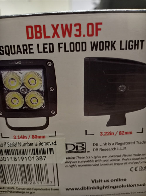 3 INCH SQUARE LED FLOOD WORK LIGHT