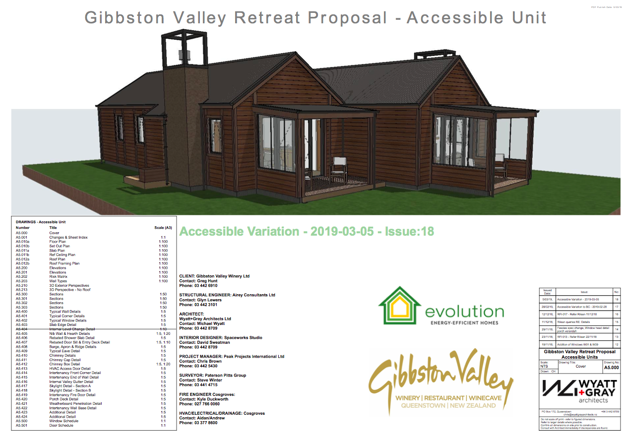 Gibbston Valley Winery Accessible Cottage