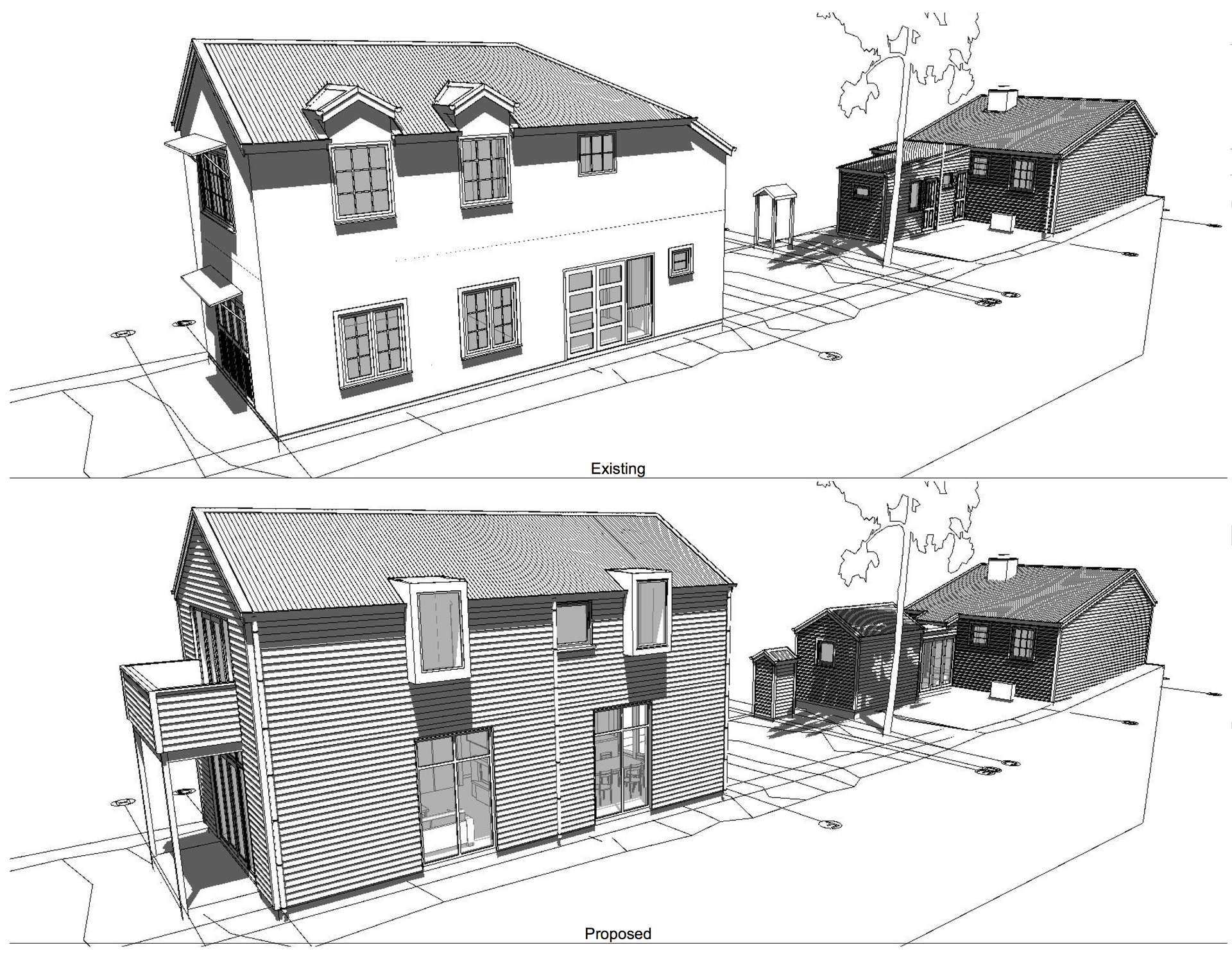 Arrowtown Cottage Existing Proposed 2
