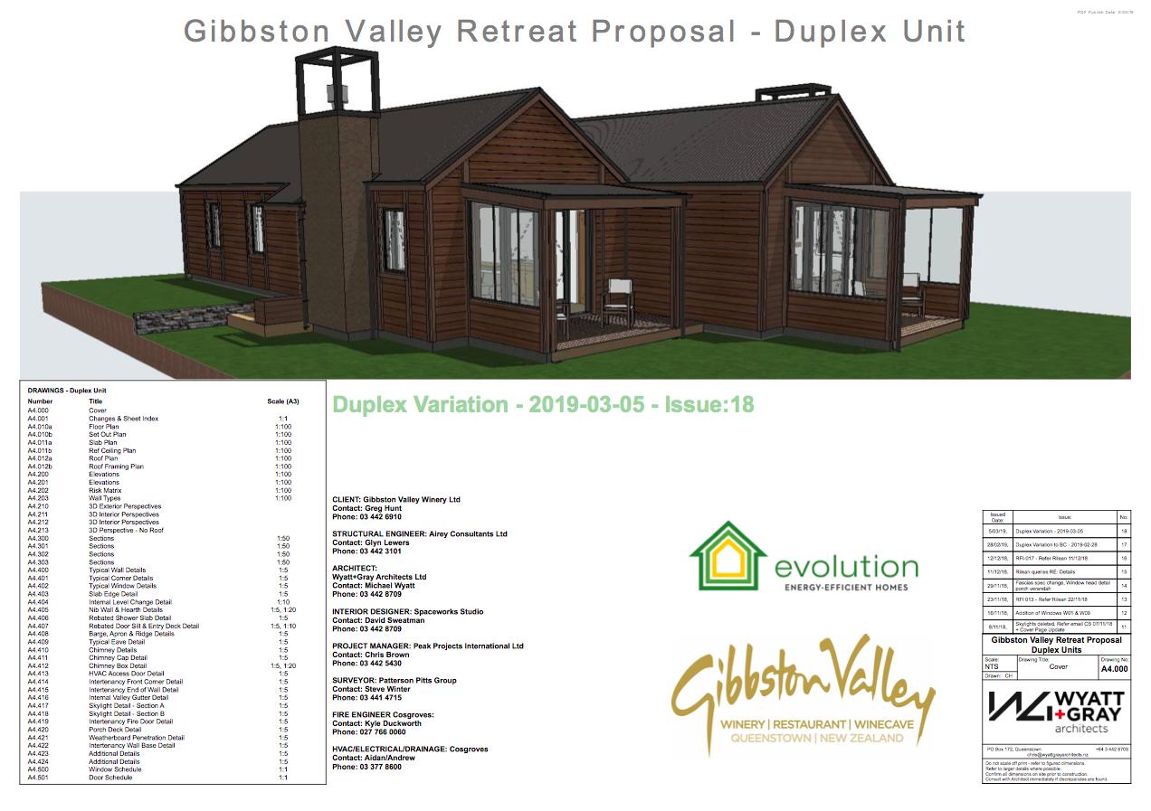 Gibbston Valley Winery Duplex Cottages
