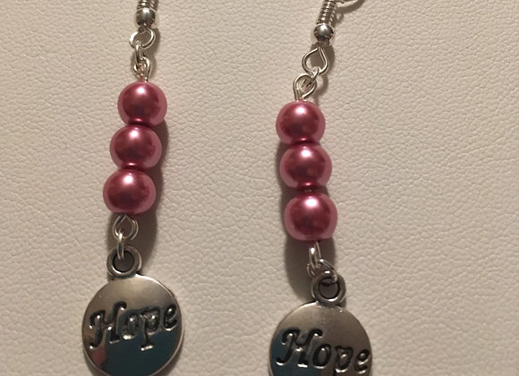 Earrings - Dangle - Pink