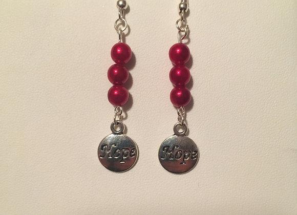 Earrings - Dangle - Red