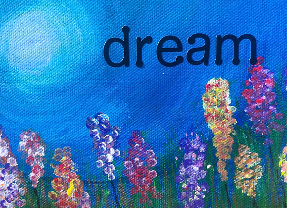 5 x 7 Dream Wildflower Canvas Painting