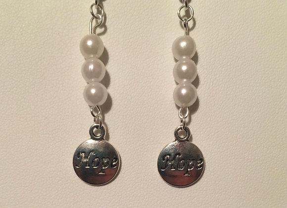 Earrings - Dangle - White