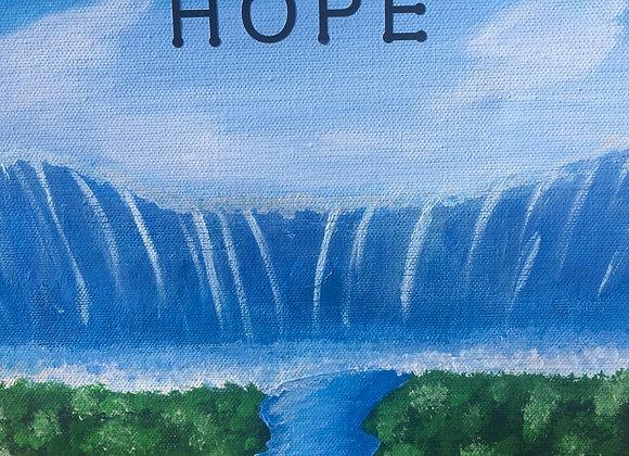 8 x 10 Hope Waterfall Painting