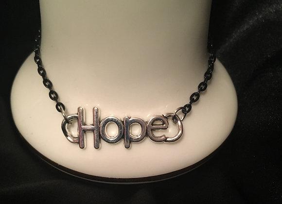 Bracelet - Hope Charm - Black Chain