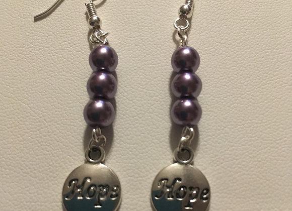 Earrings - Dangle - Lavender