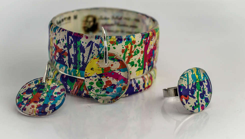 Jackson Pollock Resin Set by PAGANE uniques