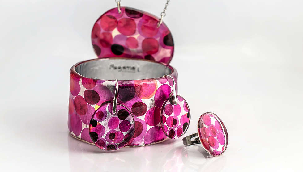 Pink Dots Resin Set by PAGANE uniques