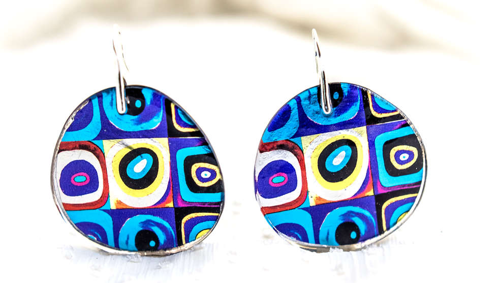 Earrings Resin Handmade by PAGANE unique