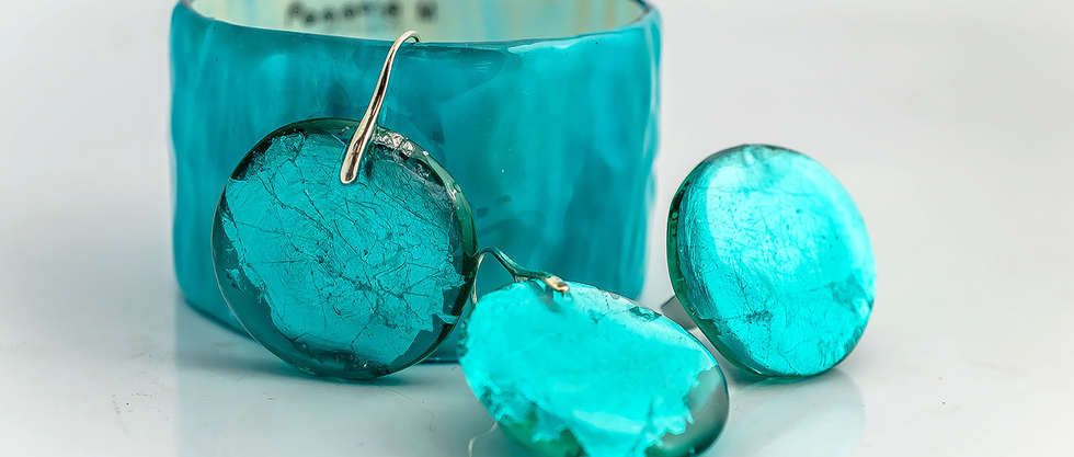 Turquoise Resin Set by PAGANE uniques