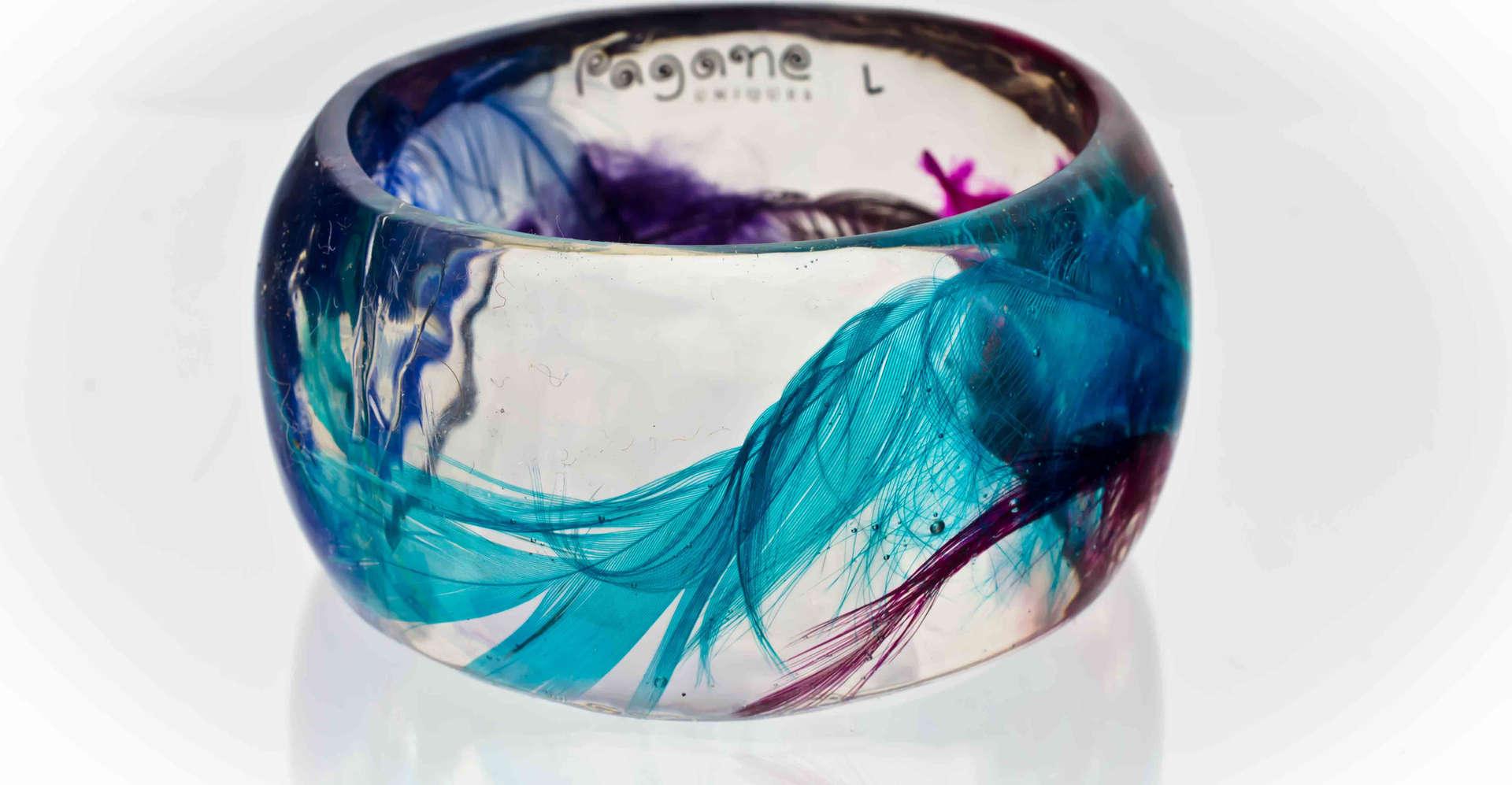 Resin Bangles Bracelets PAGANE uniques (