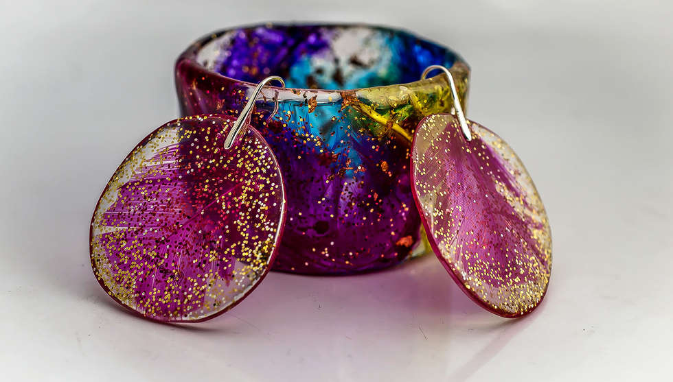 Colorful Feathers Resin Set by PAGANE uniques