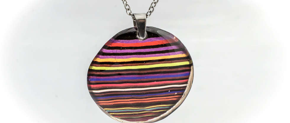 Necklace Pendants Resin by PAGANE unique